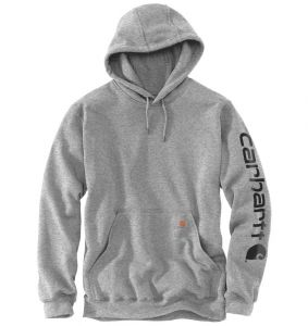 Bluza Carhartt Sleeve Logo Hooded Sweatshirt HEATHER GREY/BLACK