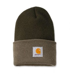 Czapka Carhartt Acrylic Watch Hat dark green - driftwood