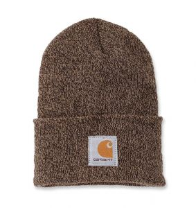 Czapka Carhartt Acrylic Watch Hat dark brown - sandstone