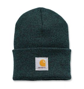 Czapka Carhartt Acrylic Watch Hat hunter green - black