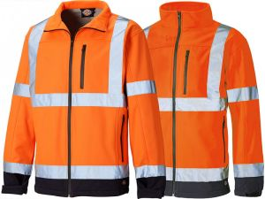 Kurtka Dickies Hi Vis Softshell orange