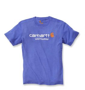 Koszulka Carhartt Core Logo T-Shirt tidal blue heather