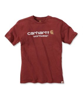 Koszulka Carhartt Core Logo T-Shirt fired brick heather