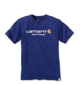 Koszulka Carhartt Core Logo T-Shirt ink blue heather