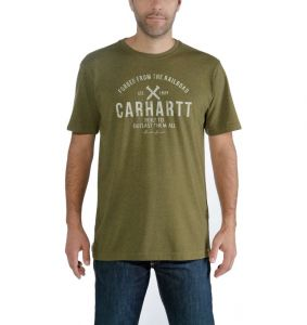 Koszulka Carhartt EMEA Outlast Graphic Short-Sleeve T-Shirt cargo green