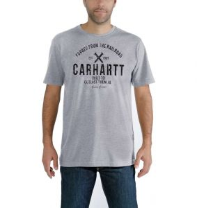 Koszulka Carhartt EMEA Outlast Graphic Short-Sleeve T-Shirt heather grey
