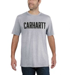 Koszulka Carhartt Block Logo T-Shirt S/S heather grey
