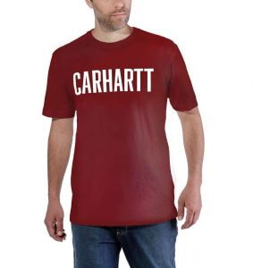 Koszulka Carhartt Block Logo T-Shirt S/S fired brick heather