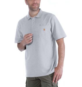 Koszulka Carhartt Polo Contractor's Work Pocket heather grey