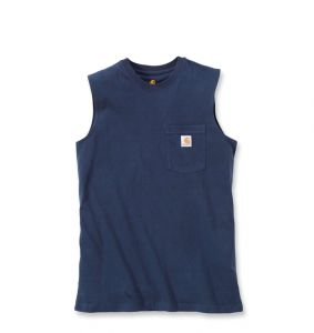 Koszulka Carhartt Workwear Pocket Sleeveless T-Shirt navy