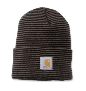 Czapka Carhartt Acrylic Watch Hat tarmac/black stripe