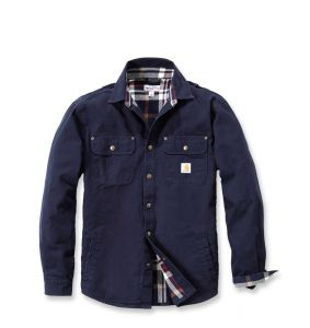 Koszula / Kurtka Carhartt Weathered Canvas Shirt Jac NAVY