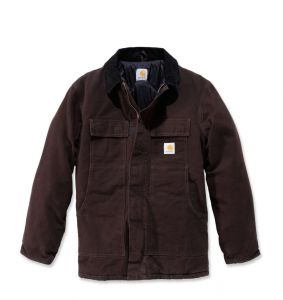 Kurtka Carhartt Sandstone Traditional Coat DARK BROWN