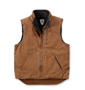 Kamizelka Carhartt Mock Neck Vest CARHARTT BROWN