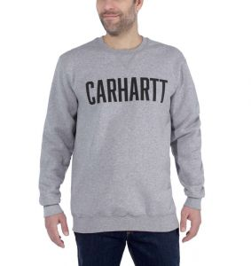 Bluza Carhartt Block Logo Crewneck Sweat HEATHER GREY