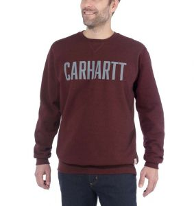 Bluza Carhartt Block Logo Crewneck Sweat PORT HEATHER