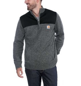 Sweter Carhartt Quarter Zip Sweater CARBON HEATHER