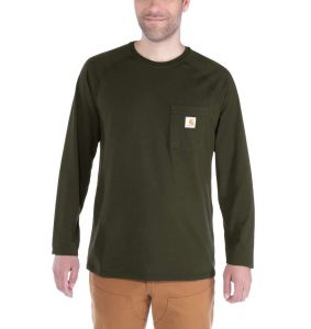 Koszulka Carhartt Force Cotton Long Sleeve T-Shirt MOSS
