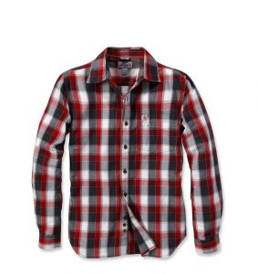 Koszula Carhartt Slim Fit Plaid Shirt Long Sleeve DARK CRIMSON