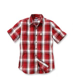 Koszula Carhartt Slim Fit Plaid Shirt S/S DARK CRIMSON