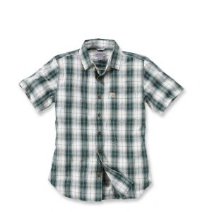 Koszula Carhartt Slim Fit Plaid Shirt S/S HUNTER GREEN