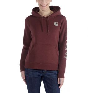 Bluza Carhartt Clarksburg Sleeve Logo Hooded Sweatshirt DARK CEDAR HEATHER