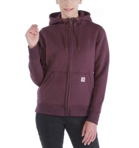 Bluza Carhartt Clarksburg Full Zip Hoodie FUDGE HEATHER