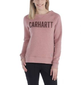 Bluza Carhartt Clarksburg Graphic Crewneck BURLWOOD HEATHER