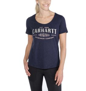 Koszulka Carhartt Lockhart Graphic Workwear Scoop-Neck T-Shirt INFANTRY BLUE