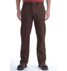 Spodnie Carhartt Washed Duck Double-Front Work Dungaree DARK BROWN