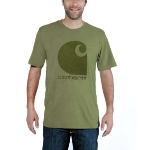 Koszulka Carhartt Workwear C Logo Graphic S/S T-Shirt oil green heather