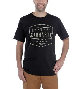 Koszulka Carhartt Workwear Built By Hand Short Sleeve T-Shirt BLACK