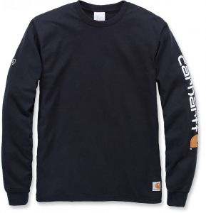 Koszulka Carhartt trudnopalna PPE Force Cotton Long Sleeve Logo T-Shirt BLACK