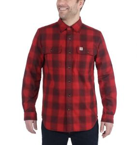 Koszula Carhartt Hubbard Slim-Fit Flannel Shirt DARK CRIMSON