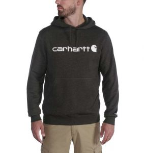 Bluza Carhartt Force® Delmont Graphic Hooded Sweatshirt BLACK HEATHER