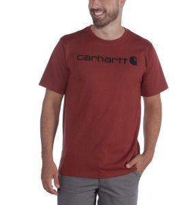Koszulka Carhartt Core Logo T-Shirt DARK BARN RED HEATHER