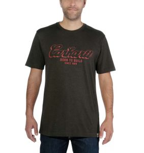 Koszulka Carhartt Maddock Born To Build Graphic T-Shirt PEAT HEATHER