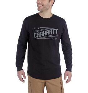 Koszulka Carhartt Tilden Graphic Long Sleeve Crew BLACK