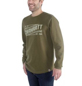 Koszulka Carhartt Tilden Graphic Long Sleeve Crew MILITARY OLIVE