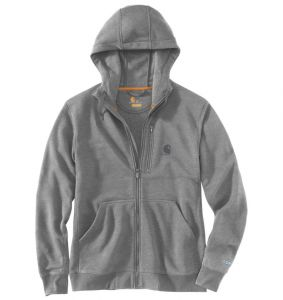 Bluza Carhartt Force® Delmont Full Zip Hooded Sweatshirt ASPHALT HEATHER