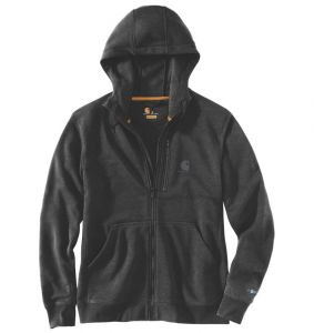 Bluza Carhartt Force® Delmont Full Zip Hooded Sweatshirt BLACK HEATHER