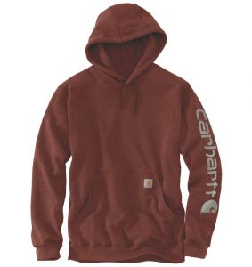 Bluza Carhartt Sleeve Logo Hooded Sweatshirt IRON ORE HEATHER