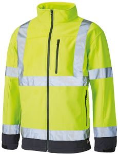 Kurtka Dickies Hi Vis Softshell yellow