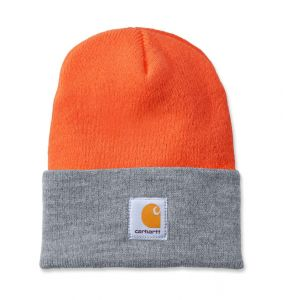 Czapka Carhartt Acrylic Watch Hat bright orange - h.grey