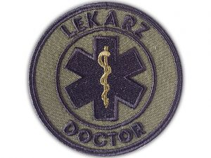 Emblemat LEKARZ DOCTOR polowy