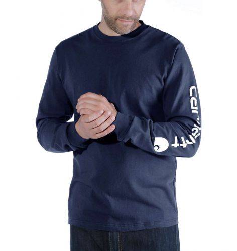 Koszulka Carhartt Logo Long Sleeve T-Shirt NAVY