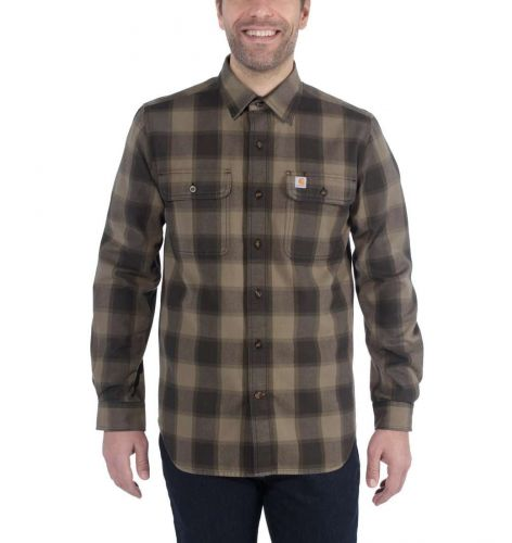 Koszula Carhartt Hubbard Slim-Fit Flannel Shirt BURNT OLIVE
