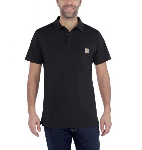 Koszulka Carhartt Force Cotton Delmont Pocket Polo BLACK