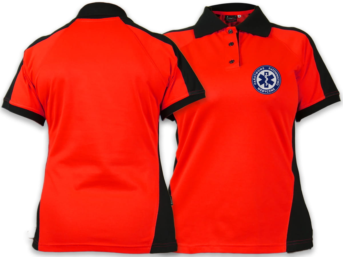d17d288810df44 Koszulka Polo FLUO damska PRM PAŃSTWOWE RATOWNICTWO MEDYCZNE