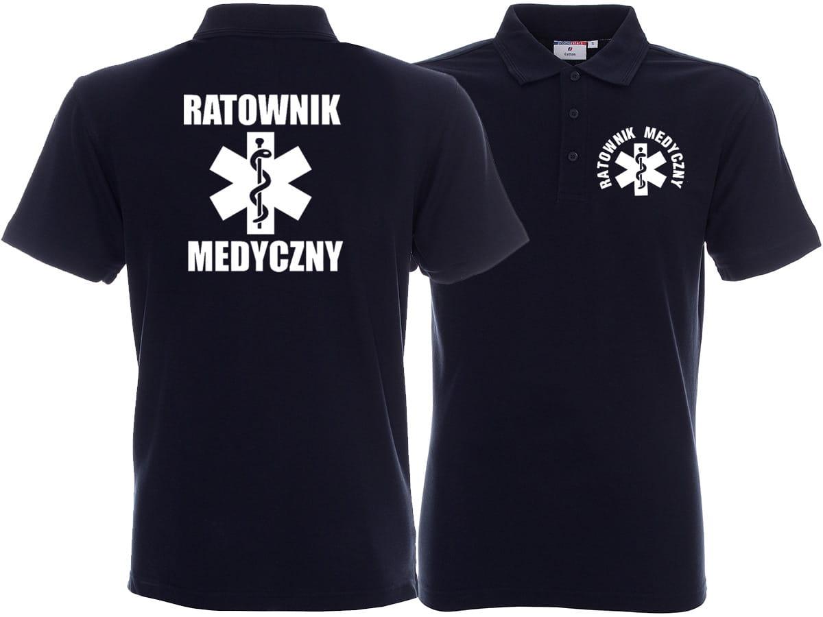 15a28cd55fe851 Koszulka Polo męska z DOWOLNYM NADRUKIEM RATUJESZ.pl
